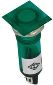 N-XD10-2-G (N-825G), Лампа неоновая с держателем зеленая 220VAC (OBSOLETE)