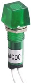 N-XD10-4W-G, Лампа неоновая с держателем зеленая 220VAC