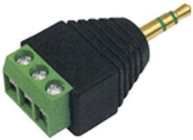 TP-009G, Штекер аудио 3.5мм стерео с клеммной колодкой