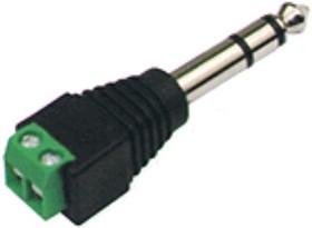 TP--011, Штекер аудио 6.35мм стерео с клеммной колодкой