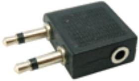 NP-600, Переходник аудио 2х3.5мм моно (штекер)/3.5мм стерео (гнездо)