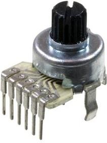 R1214G-A100K, 2х100 кОм, L15KC, Резистор переменный
