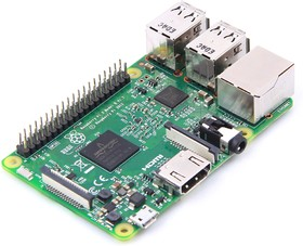 Фото 1/9 Raspberry Pi 3 Model B, Одноплатный компьютер на базе процессора Broadcom BCM2837 с Wi-Fi и Bluetooth