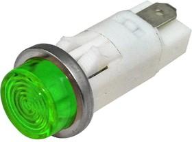 "1092QC5-28V, PMI ROUND .5"" LED GREEN HI-HAT"