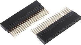 83-17606, 2 x 20 Right Angle Male Header - 2 Pack