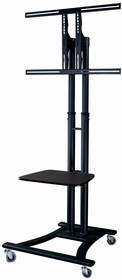 """555-14252, Mobile Cart for 36"""" to 60"""" Televisions - with Shelf"""