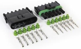 27-10177, 6 Way 12AWG Weatherproof Automotive Connector Kit