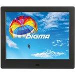 "Фоторамка Digma 8"" PF-843 IPS 1024x768 черный пластик ПДУ Видео"