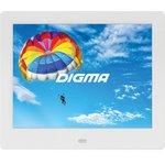 "Фоторамка Digma 8"" PF-843 IPS 1024x768 белый пластик ПДУ Видео"