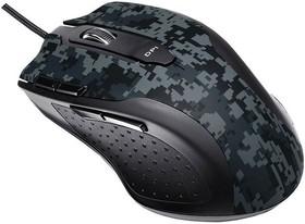 Мышь ASUS Echelon лазерная проводная USB, серый и черный [90yh0051-bbua00 ]