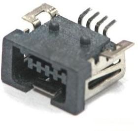 MiniUSB-A, Розетка 4-контактная SMD на плату (OBSOLETE)