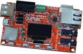 Фото 1/2 PIC32-EMZ64, Отладочная плата на основе МК PIC32MZ2048EFH064