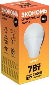 ECO-LED-GLS-E27-7W30, Лампа светодиодная 7Вт,220В