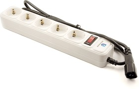 Фото 1/2 KR-5-1.5UPS, Удлинитель сетевой с фильтром, подключение к ИБП (UPS), 5 розеток, 1.5м