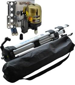 Лазерный нивелир KAPRAL START линейный крест/3 линии ±3 мм/10 м/ 30м +магнит штатив очки