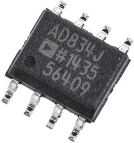 AD834JRZ, Analog Multiplier 4Bit 500MHz 8-Pin SOIC N Tube