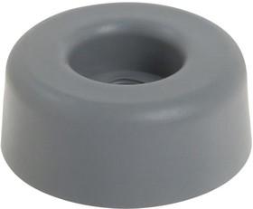726, Резиновая прокладка / ножка, Винтовой Монтаж, 11.1 мм, 27 мм, Круглая, Серый