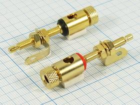 Комбинированная клемма приборная 4мм на панель с боковым гнездом под кабель 5мм, красная, 2983 клемма приб 47,5x19 d4,0\\\отв 4,0/5,0\кр\
