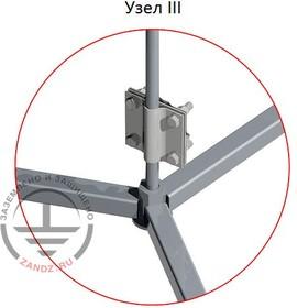 Фото 1/5 GL-21129, GALMAR Молниеприемник-мачта (8 метров; на 3х бетонных основаниях; трёхступенчатая тросовая поддержка