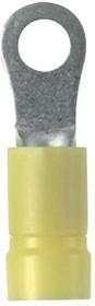 Фото 1/2 PV10-38R-D, Ring Tongue Terminal 10-12AWG Copper Yellow 33.3mm Tin Box