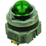 APD1QH2DNUG, PANEL INDICATOR, GREEN, 120VAC, SCREW