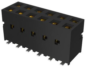 89898-303ALF, CONNECTOR, RCPT, 6POS, 2ROW, 2.54MM