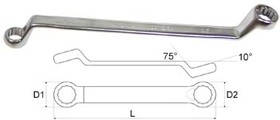 02011617a (16 / 17 мм), Ключ гаечный накидной 16х17