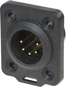 NC5MDX-TOP, Аудио разъем XLR, 5 контакт(-ов), Штекер, Монтаж на Шасси, Контакты с Покрытием из Золота