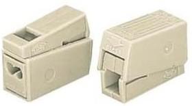 224-122, Клемма для осветительного оборудования, (1.0-2.5)х2/(0.5-2.5) кв.мм, белая, с пастой