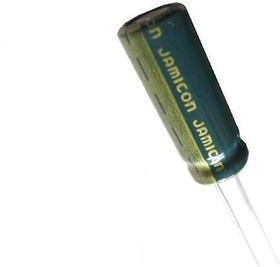 ECAP (К50-35), 1500 мкф, 10В, 8x20 WL, Конденсатор электролитический алюминиевый миниатюрный