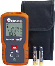 Фото 1/2 NEDO 705565 laser mEssfix 80,, Дальномер
