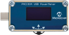 ADM00921, Development Board, PAC1934 USB C PowerMeter, Quad DC Power/Energy Monitor, USB Type C