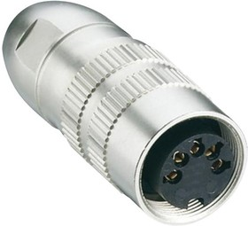0321 08-1, SOCKET ACC. TO IEC 61076-2-106, IP 68, WITH THREADED JOINT AND SOLDER TERMINALS 23AH4158