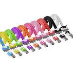 USB кабель Pro Legend плоский Iphone 4, 30 pin 1м, белый (PL1343)