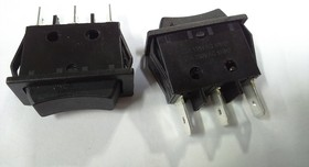 RS-123-11C (черный), Переключатель (ON)-OFF-(ON) (20A 125VAC) SPDT 3P (кнопка без маркировки)