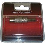 Антенный штекер металлический, вилка, прямой, Pro Legend (PL2006)