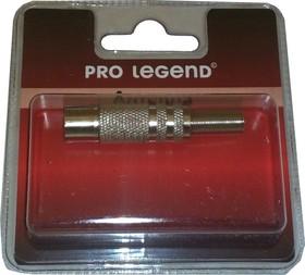 Антенный штекер металлический, розетка, прямой, Pro Legend (PL2002)