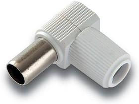 Антенный штекер пластиковый, розетка, угловой, белый, Pro Legend (PL2005)