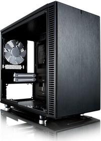 Корпус miniITX FRACTAL DESIGN Define Nano S Window, Mini-Tower, без БП, черный