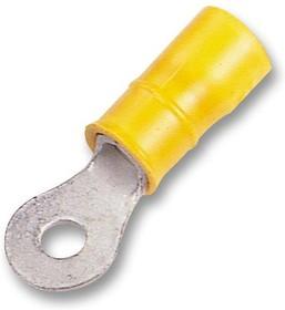 Фото 1/4 34853, Клемма с кольцевым наконечником, M4, #8, 10 AWG, 6 мм², Серия PLASTI-GRIP, Желтый