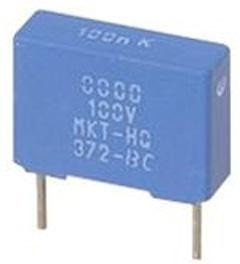 BFC237343125, Cap Film 1.2uF 250V PET 10% (17.5 X 10 X 16.5mm) Radial Plastic Rectangular Can 15mm 105°C Loose