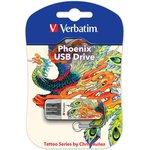 Флешка USB VERBATIM Store n Go Mini Tattoo Edition Phoenix ...