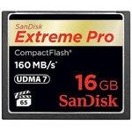 Карта памяти CF SANDISK Extreme Pro 16 ГБ, 160 МБ/с ...
