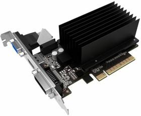 Видеокарта PALIT GeForce GT 710, PA-GT710-2GD3H, NEAT7100HD46-2080H BULK, 2Гб, DDR3, Low Profile, oem