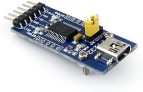 Фото 1/5 FT232 USB UART Board (mini), Преобразователь USB-UART на базе FT232 с разъемом USB mini-AB