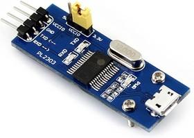 Фото 1/5 PL2303 USB UART Board (micro), Преобразователь USB-UART на базе PL2303 с разъемом USB micro
