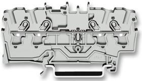 Клемма четырехпроводная проходная 0.25-2.5(4)мм.кв. на DIN рейку