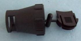 Фото 1/2 1445856-1, Зажим круглого разъема, прямой, 11, 12 мм, Термопласт, Серия Miniature CPC, Разъемами Mini CPC