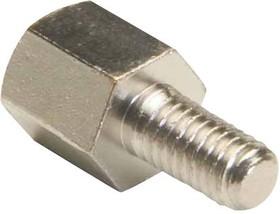 R30-3000502, Стойка, никелированная, Латунь, M3, Шестигранная Штыревая-Гнездовая, 5 мм, 11 мм