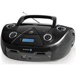 Аудиомагнитола BBK BX318BT черный 5Вт/CD/CDRW/MP3/ FM(dig)/USB/BT